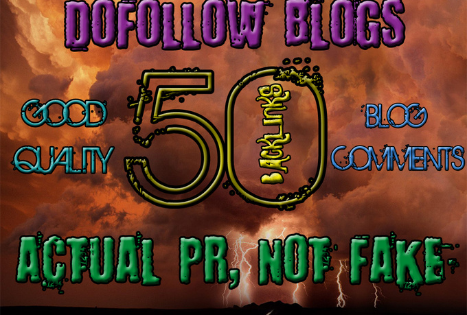 I will create 50 highpr blog comment backlinks do follow PR2 to PR6