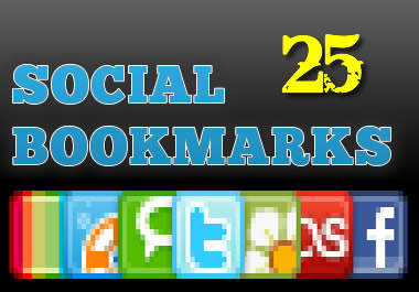 social BookMark your website to 25 of the most popular and high pr social bookmarking networks for seo and search engine ranking boost