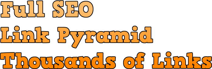 I will do a Rank Booming SEO link pyramid with thousands of one way links from high PR sites