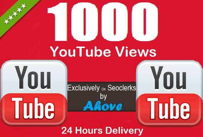 Get 1000+ YouTube Views Within 12 Hours for $1