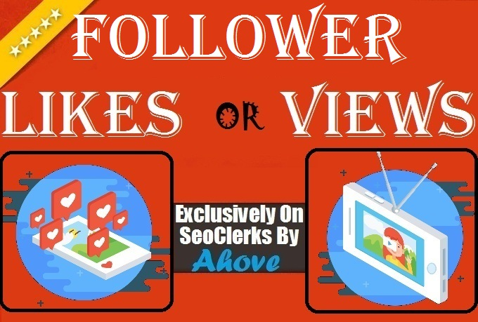 Get Instant 400 Followers Or 2000 Likes Or 2000 Views