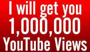 add 1,000,000 (1 MILLION) YouTube views to your video
