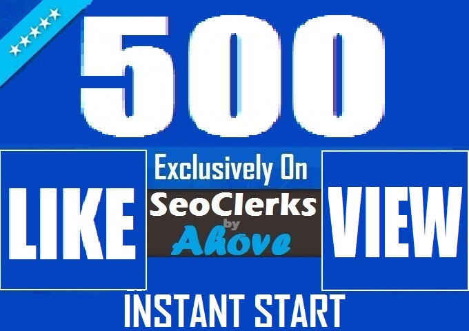 Get Instant 500 Likes In Posts Or 3000 Views In Videos For Social Media