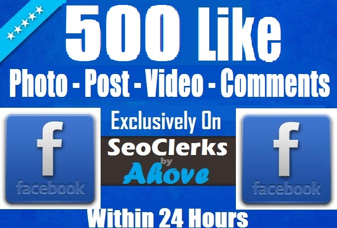 Add Instant 500 FB Likes In Photos, Posts, Status, Vi... for $1