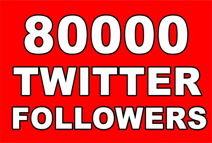 Provide Instant 80,000+ Permanent Twitter Followers