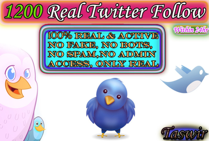 give you 1000 real and permanent Twitter followers