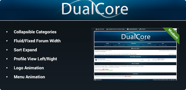 DualCore - Modern phpBB3 Style Theme