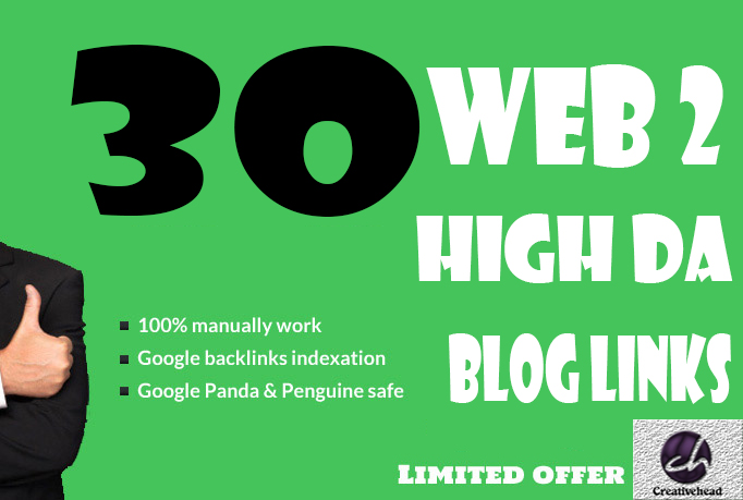 30+ High PR Web 2 Blog Links With unique article only