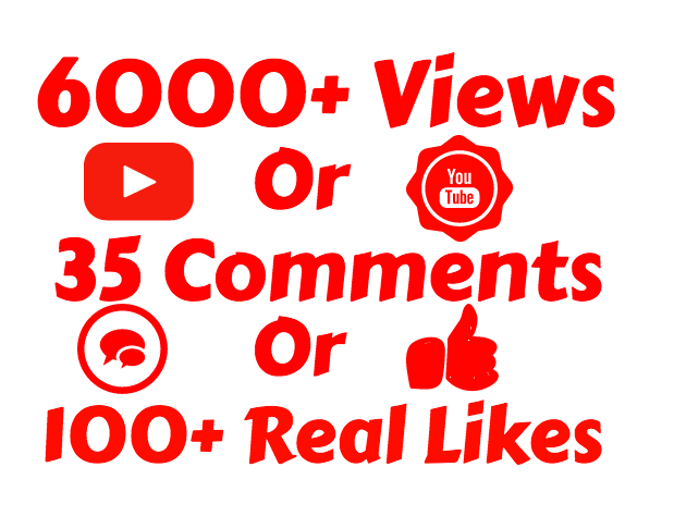 add 4000+ VIEW'S OR 35 COMMENTS OR 1000 LIKE'S