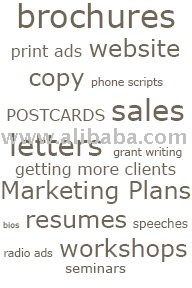 write advertisements inclusive marketing plans and product feature descriptions