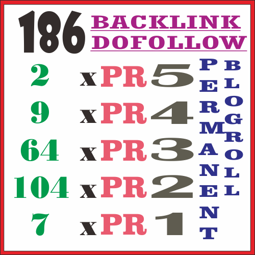 Give You permanent blogroll link on my hompage blogspot PR5-PR1