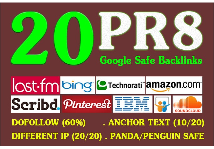 manually create 30 PR8 Backlinks for your SEO