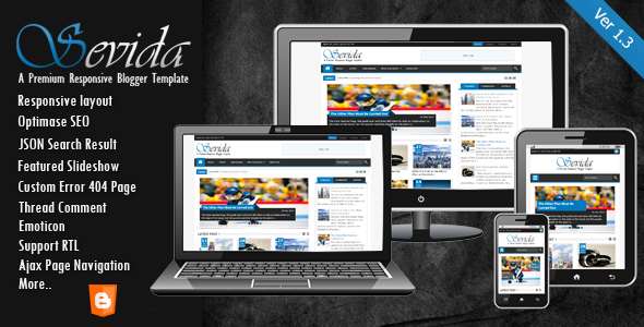 Give you Sevida premium Blogger template
