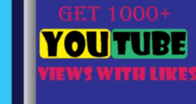 Let you 2000 HR (Lifetime Gurantee) YouTube views with 20 likes