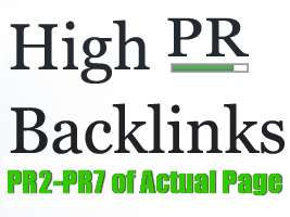 create 1000 PR2 to PR7 of Actual Page HIGH PR Backlinks