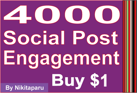 Instant reach 5000 social media Likes Or views engagement
