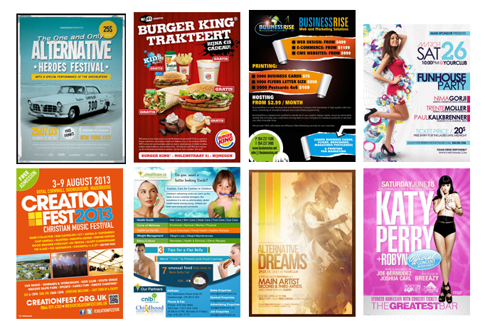 I will Create Beautiful Design for your POSTERS / FLYERS