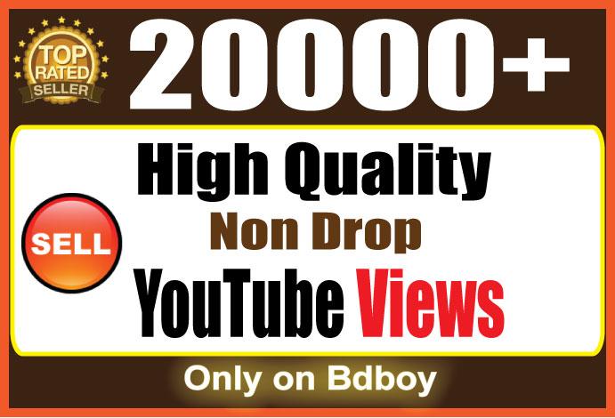 Provide you 20,000+Splitable you+tube views