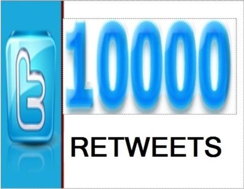 i will provide 10,000 twitter retweet
