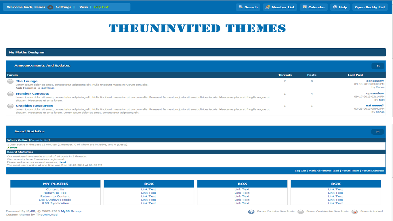 TheUni-Light-Blue Mybb Theme