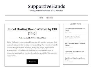 Website Hosting, eMarketing and Digital Product Reviews