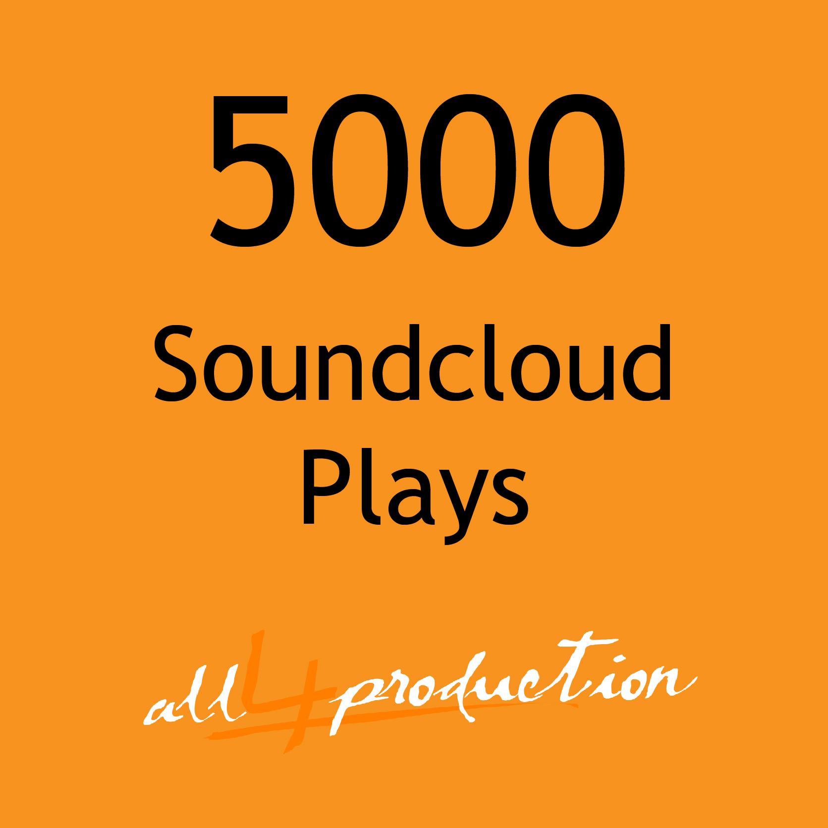 I will give you 5000 Soundcloud Plays in just 24 Hours! Max Split on 4 Tracks MEGA EXPRESS SERVICE