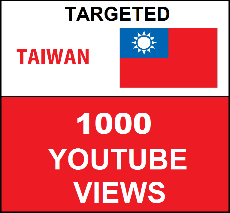 Added 1,000 Taiwan Targeted Youtube Views
