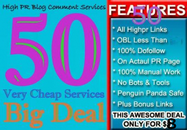 do MANUAL 50 Highpr Blog Comment 2PR6 13PR5 20PR4 09PR3 06PR2 DoFollow Backlinks for