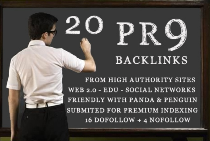 create manually 15xPR9 + 5xPR8 edu.=20 contextual links on blogs + High Authority sites with super fast delivery only