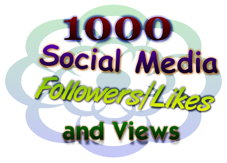 1000 Non-Drop Social Media Followers/Likes