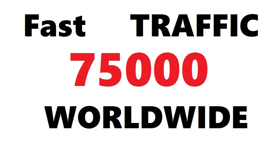 FAST 75k or 75000 Worldwide SEO Traffic