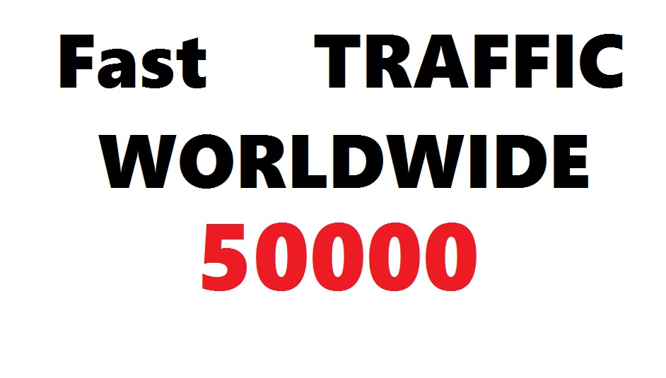 FAST 50k or 50000 Worldwide SEO Traffic