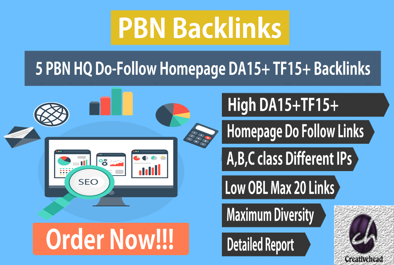 5 PBN HQ Do-Follow Homepage DA15+ TF15+ Backlinks only