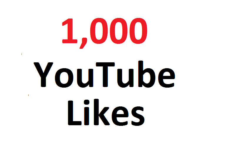 give 1000 1K YouTube l ikes to your video