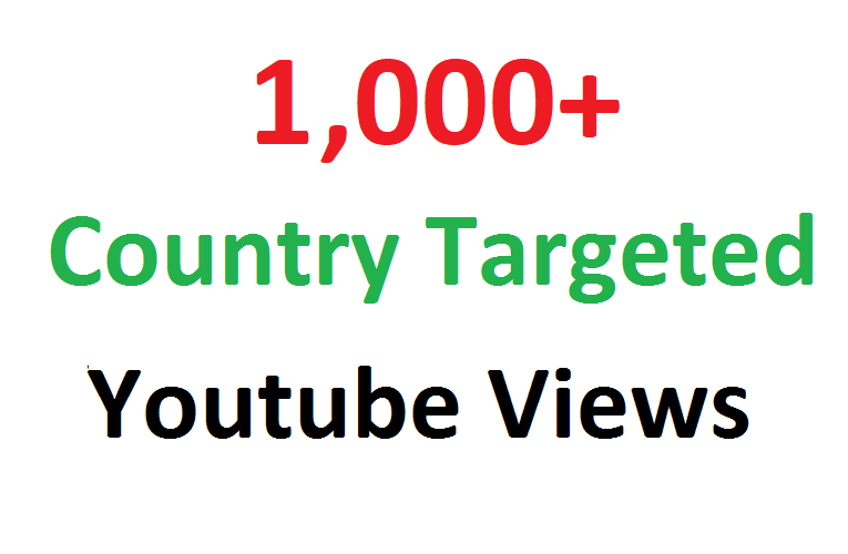 Add 1000 1K Country Targeted Youtube hits