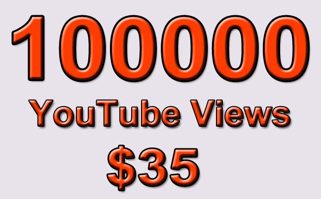 100000 Non Drop YouTube Views