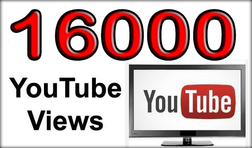 16000 Non Drop YouTube Views
