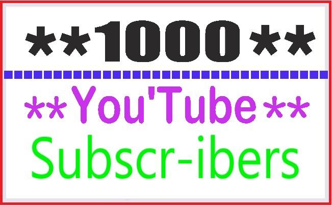 1000  High Quality Y/T.u.b.e permanent Sub-scribe rs