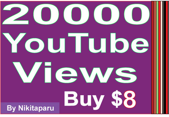 Provide you 20,000+ youtube views