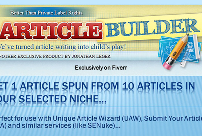 make you TEN Unique 500 to 700 word niche optimized articles