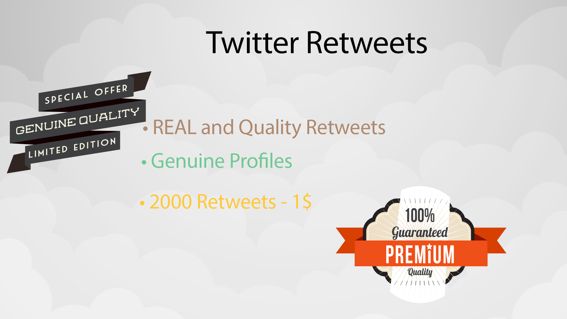 get you 2000 Retweets to  any of Your tweet