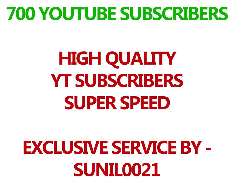 Real 700 Youtube Subs cribers