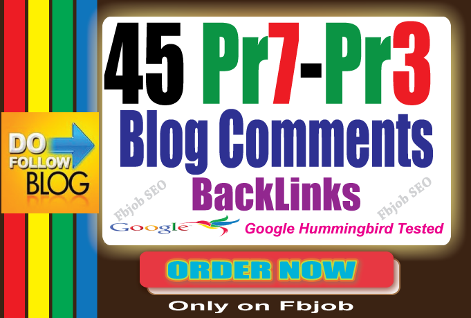 45 Dofollow Blog Comment Backlinks Pr7 to Pr3 SEO Technique 2015