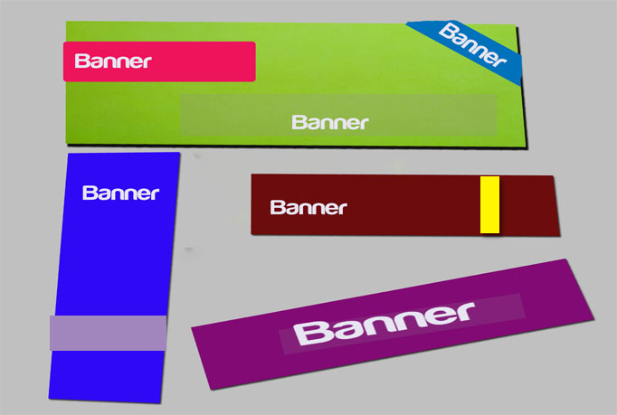 do design up to 4 banner or header