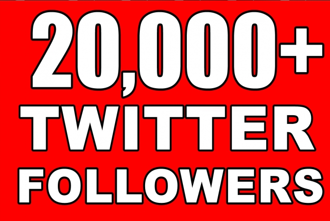 Provide Instantly 20000+ Permanent Twitter FoIIowers within 48 Hours