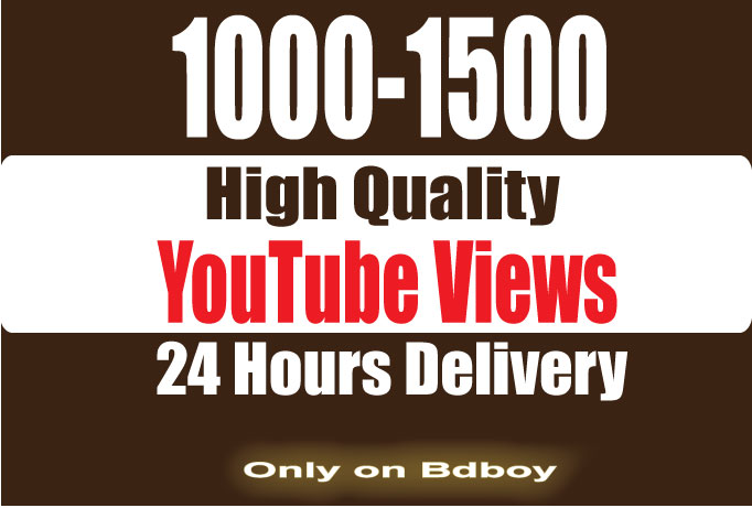 Instantly 1000-1500 SUPER FAST High Retention youtube views Within 24 hours