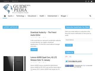 Guidepedia- multi niche blog