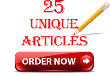 write 25 UNIQUE Articles That Pass Copyscape Test On Any Keyword Just