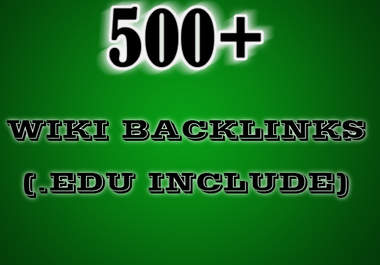 create 800 Contextual Wiki Backlinks on Different 800 Wiki sites including EDUs Backlink with Unlimited Keywords To You Site Backliks