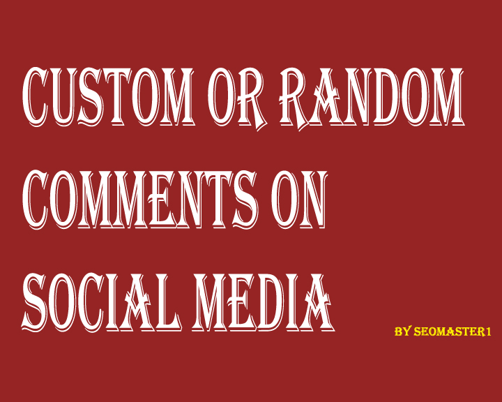 SUPER FAST 150+Custom or Random comments on your post